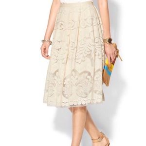 NWT Anthropologie A-Line Midi Lace Skirt